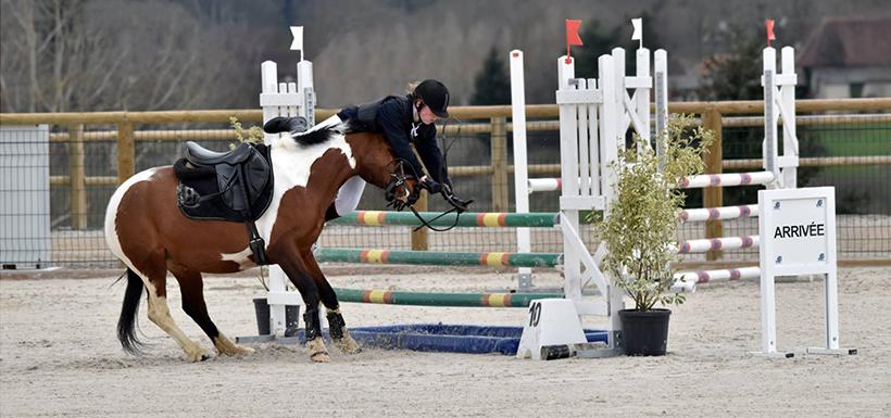 Effort physique du cavalier à cheval