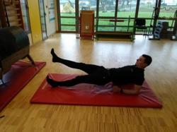 Mouvements de jambes position dorsale