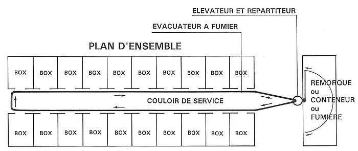 Plan évacuation fumier