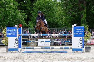 cheval sautant un obstacle de cso © Ifce
