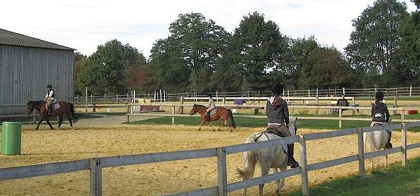 Cours d'équitation en carrière © A.C. Grison,IFce