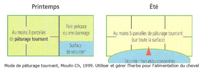 Schéma du pâturage tournant