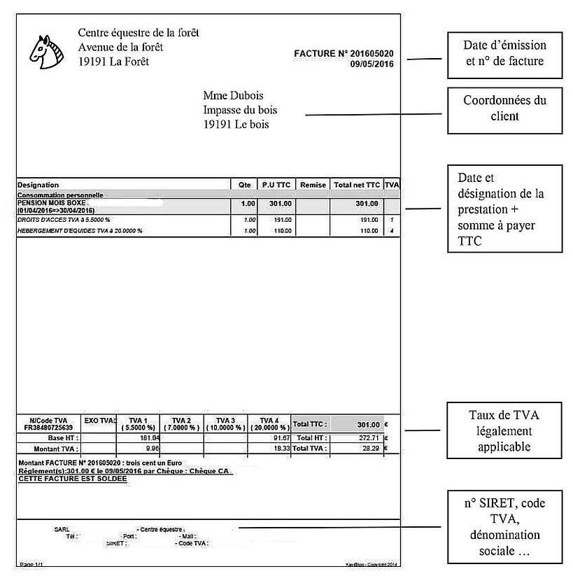 modèle de facture
