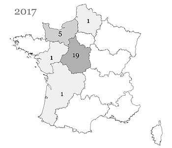 Les ânons Ane Grand Noir du Berry nés en France et immatriculés