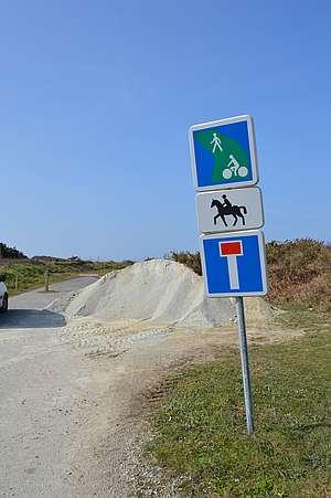 Signalisation pour les chevaux sur le littoral © F. Lumalé